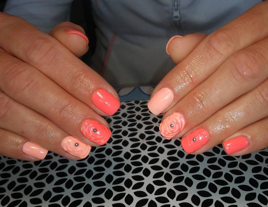 View Images Peach Nail Art Designs