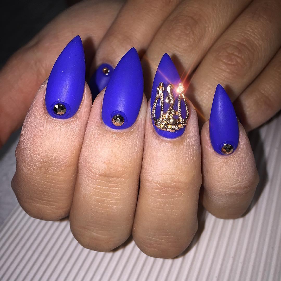 21 Pointed Nail Art Designs Ideas