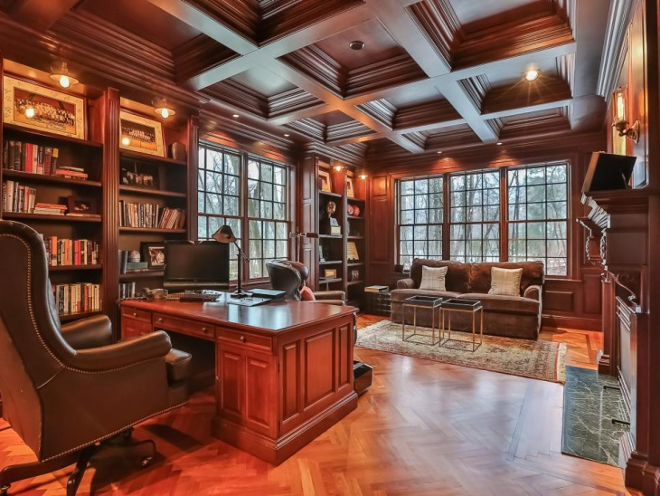 22 Luxury Home Office Designs Ideas Plans Models