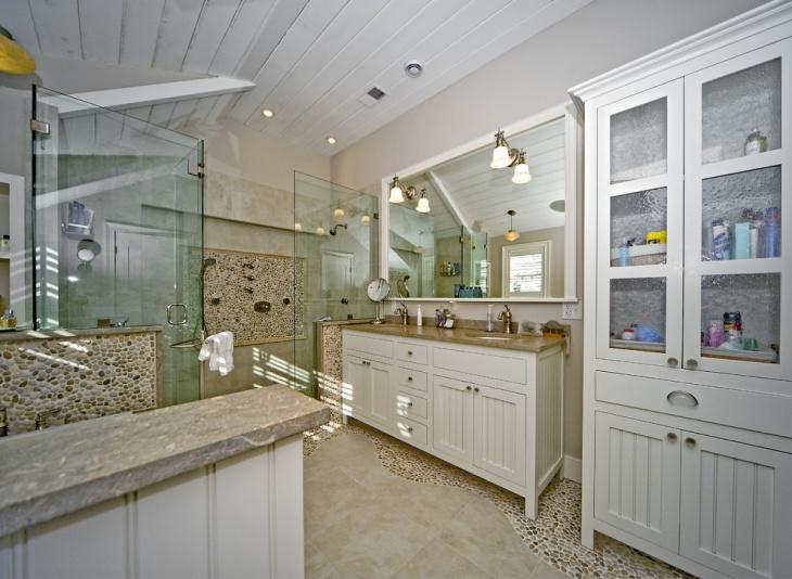 river rock bathroom designs decorating