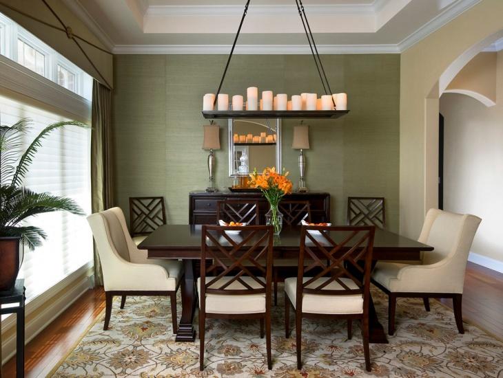 21+ Green Dining Room Designs, Decorating Ideas