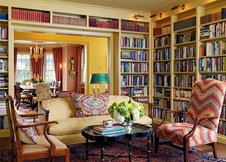 15 Living Room Library Designs Ideas Design Trends