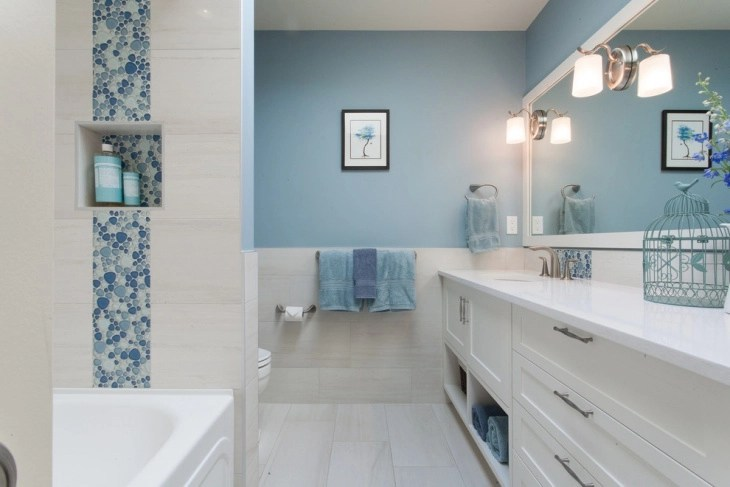 15+ Blue And White Bathroom Designs, Ideas