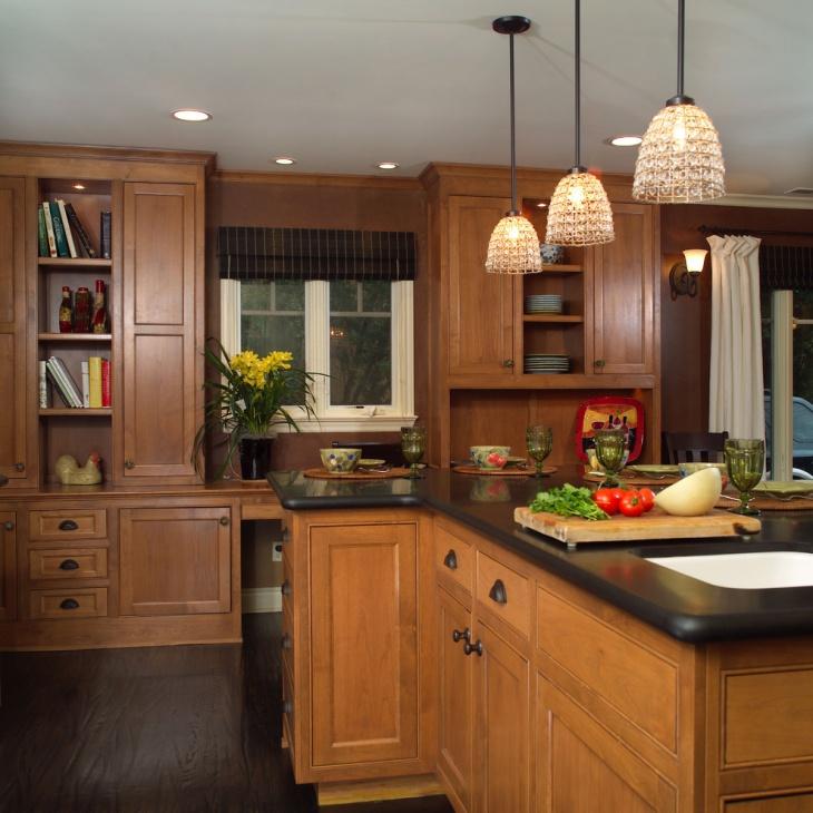 Light Brown Wood Kitchen Cabinets Novocom Top