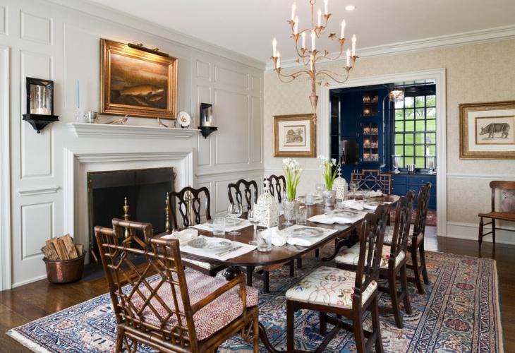 16+ Dining Room Fireplace Designs, Ideas