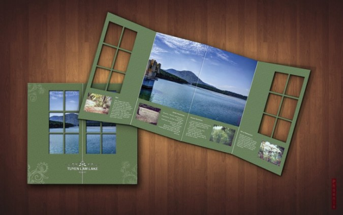 20  Creative Brochure Designs  PSD Download   Design Trends     Resort Brochure Design Idea