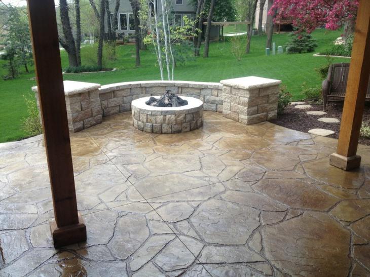stamped patio designs ideas design