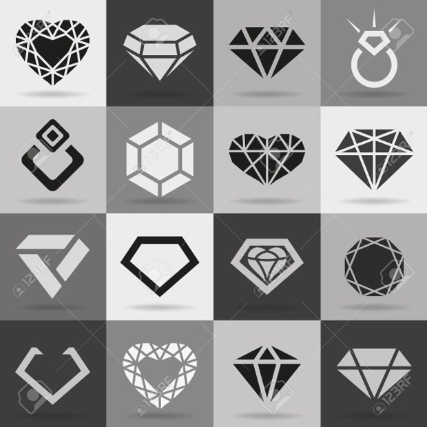25 Diamond Icons Free PSD Vector EPS Format Download