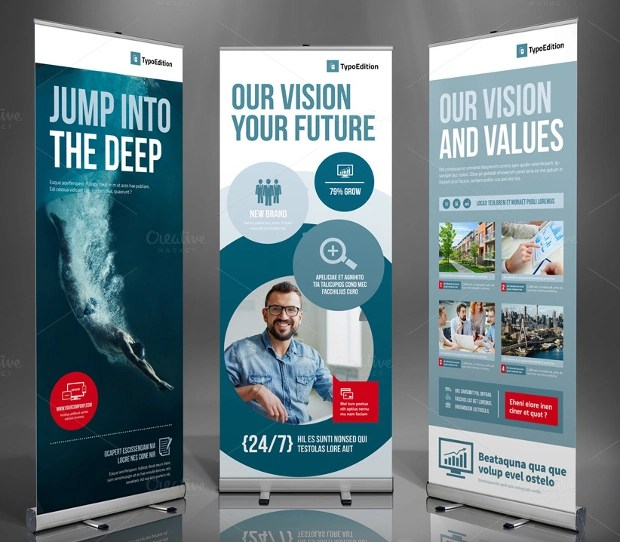 21 Roll Up Banners Free PSD AI Vector EPS Format Download Design Trends Premium PSD