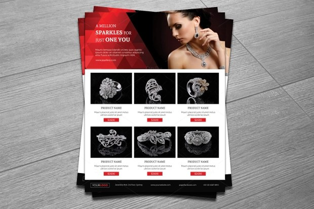 20 Jewelry Flyer Templates Printable PSD AI Vector