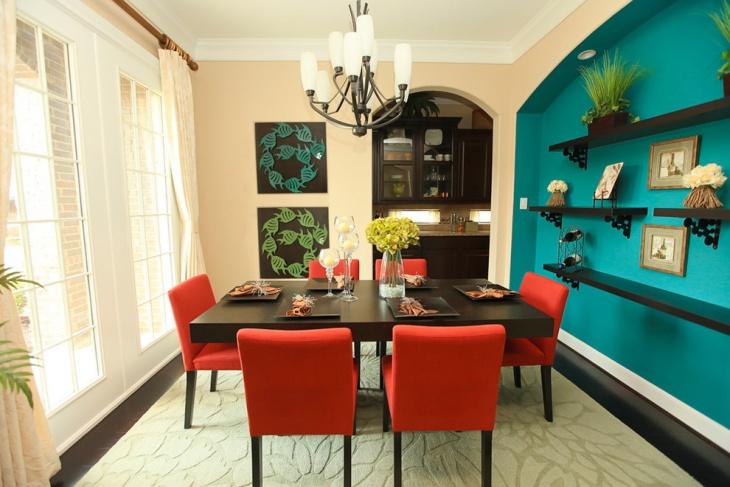 20 Turquoise Dining Room Designs Ideas Design Trends