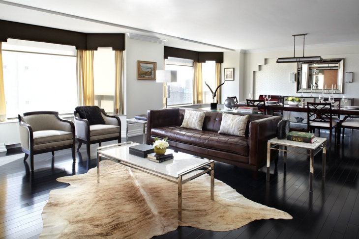 Traditional Leather Living Room Decorating Ideas