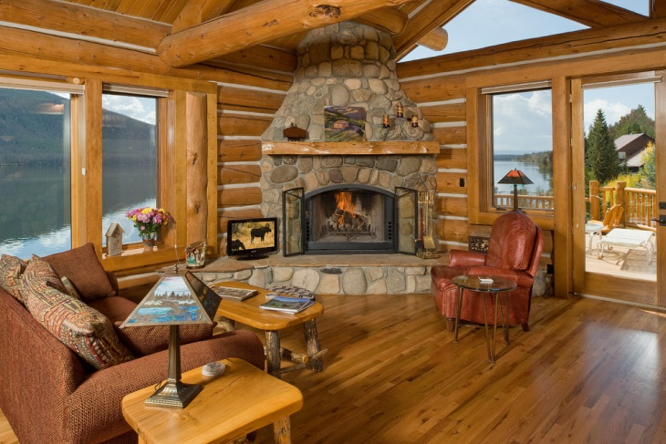 20 Cabin Living Room Designs Ideas Design Trends