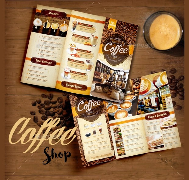 19 Coffee Shop Brochure Designs And Templates Word Psd