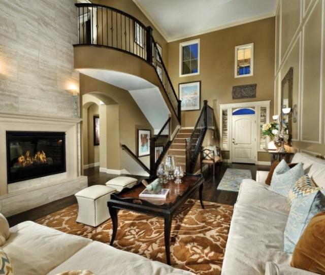 Living Room Staircase Design