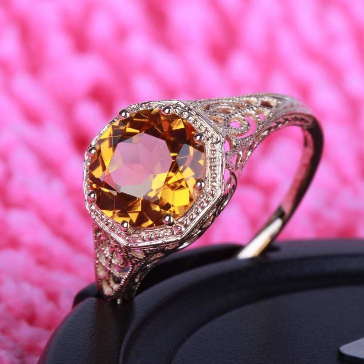 17 Citrine Ring Designs Trends Models Design Trends