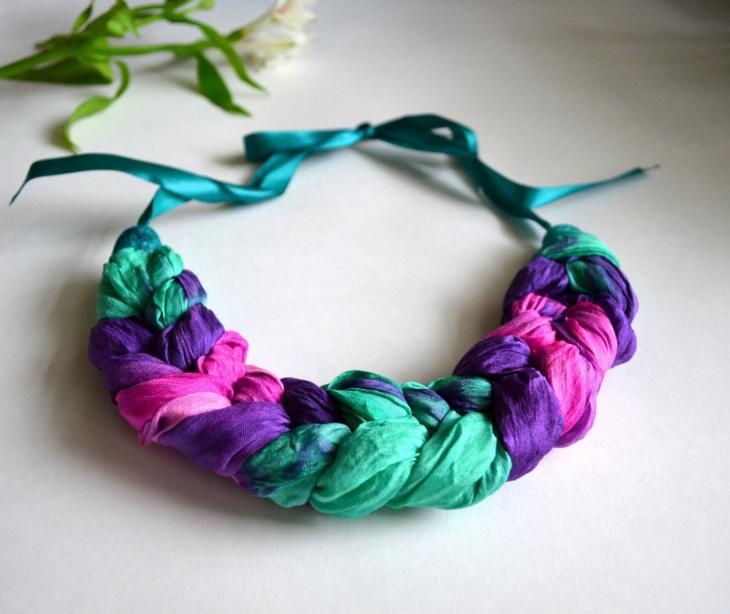 21 Fabric Necklace Designs Ideas Models Design Trends