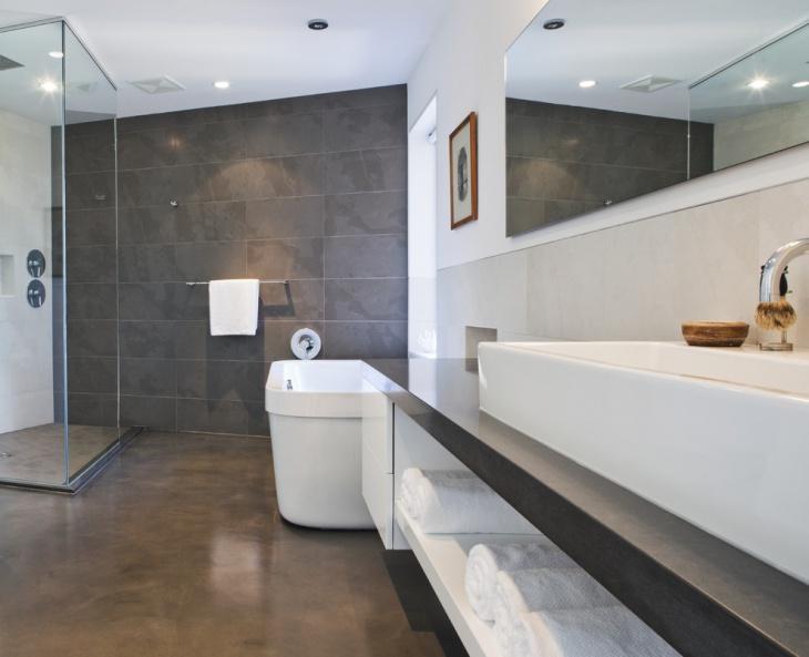 17+ Concrete Bathroom Floor Designs, Ideas
