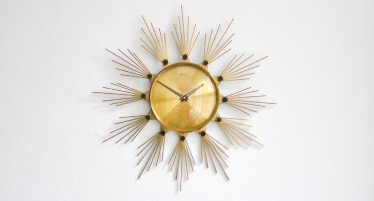 16+ Sunburst Wall Clock Designs, Ideas