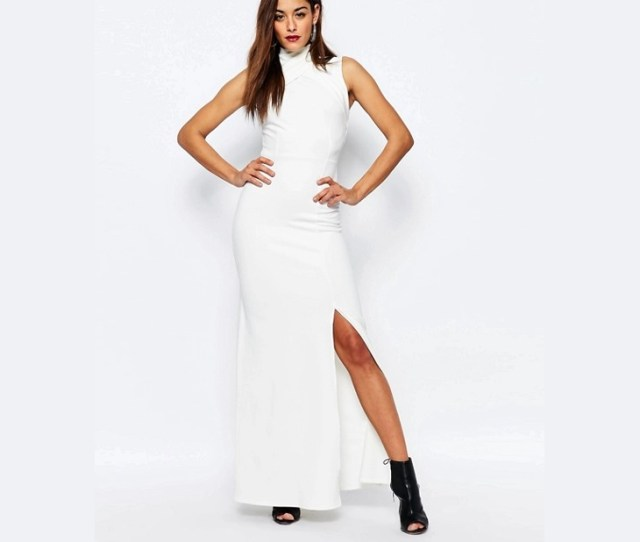 White Wrap Maxi Dress