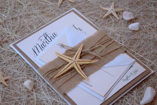Fish Love Nautical Beach Wedding Invitations