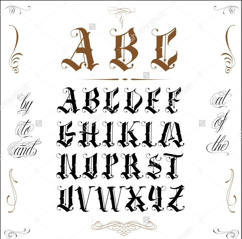 Tattoo Lettering Fonts Old English Invisite