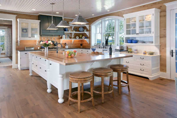 Open Plan L Shaped Kitchen Living Room