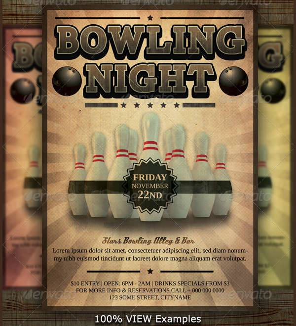 10 Bowling Party Flyer Designs Design Trends Premium PSD Vector Downloads