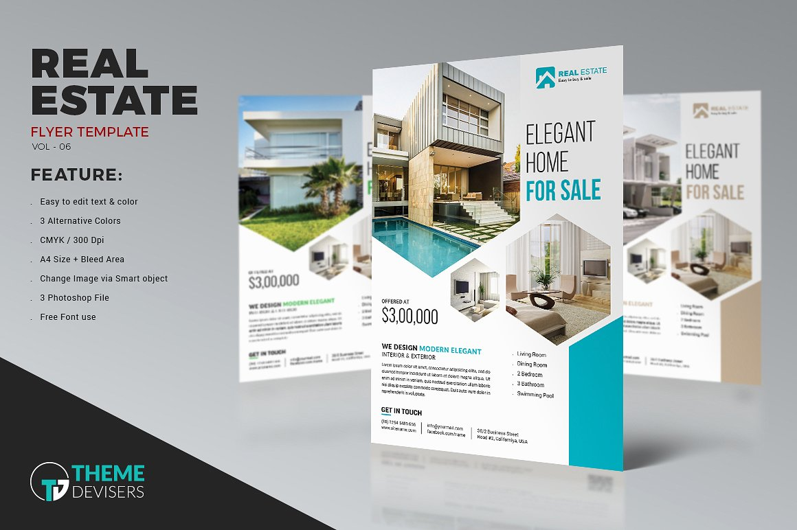 House For Rent Flyer Template