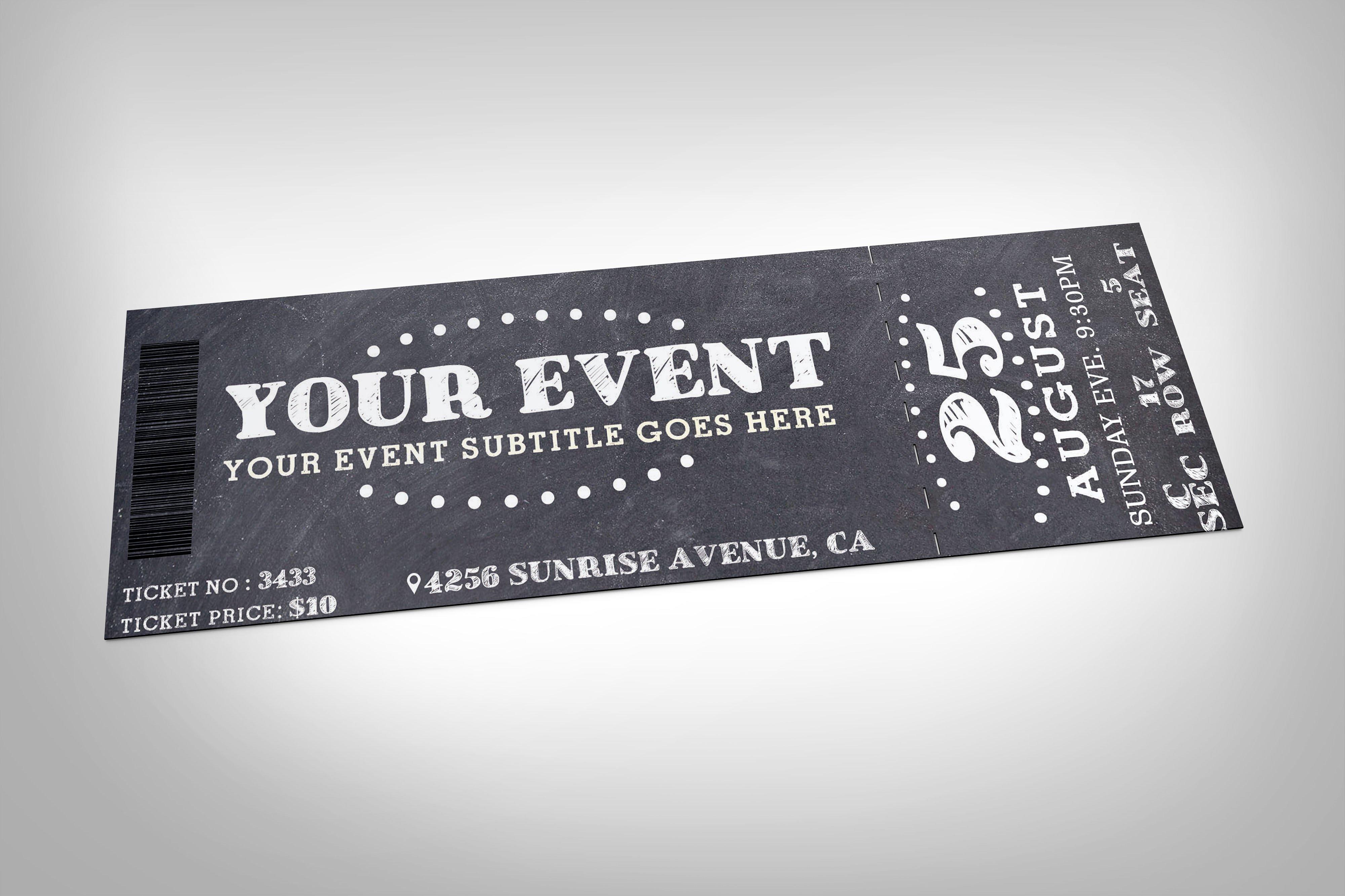 17 Event Ticket Templates Design Trends Premium PSD