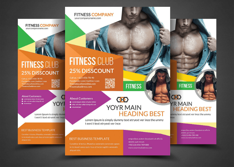 Promote Health And Fitness With These 18 Gym Flyer