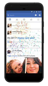 Kembang Api Semarakkan Tahun Baru di Facebook