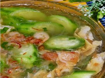 Resep Sup: Sup Oyong Kembang Tahu