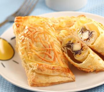 Resep Kue: Pastry Pisang Keju Cokelat
