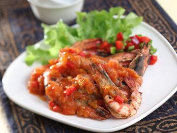 Resep Seafood: Udang Bakar Saus Tomat