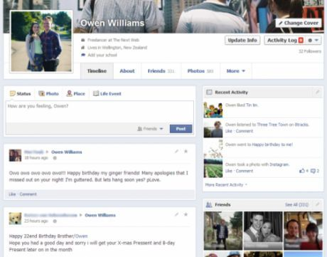 Desain Profile Baru Facebook