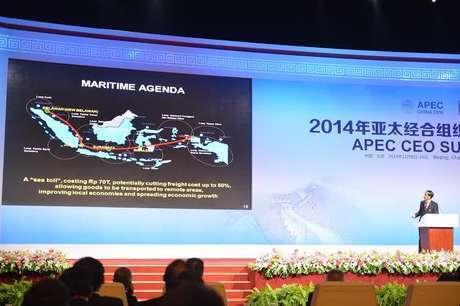 Joko Widodo, President of Indonesia, at the APEC CEO Summit