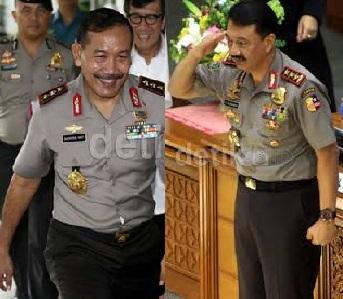 Jokowi-KIH Sepakat Duet Komjen Badrodin Haiti-Budi Gunawan Pimpin Polri