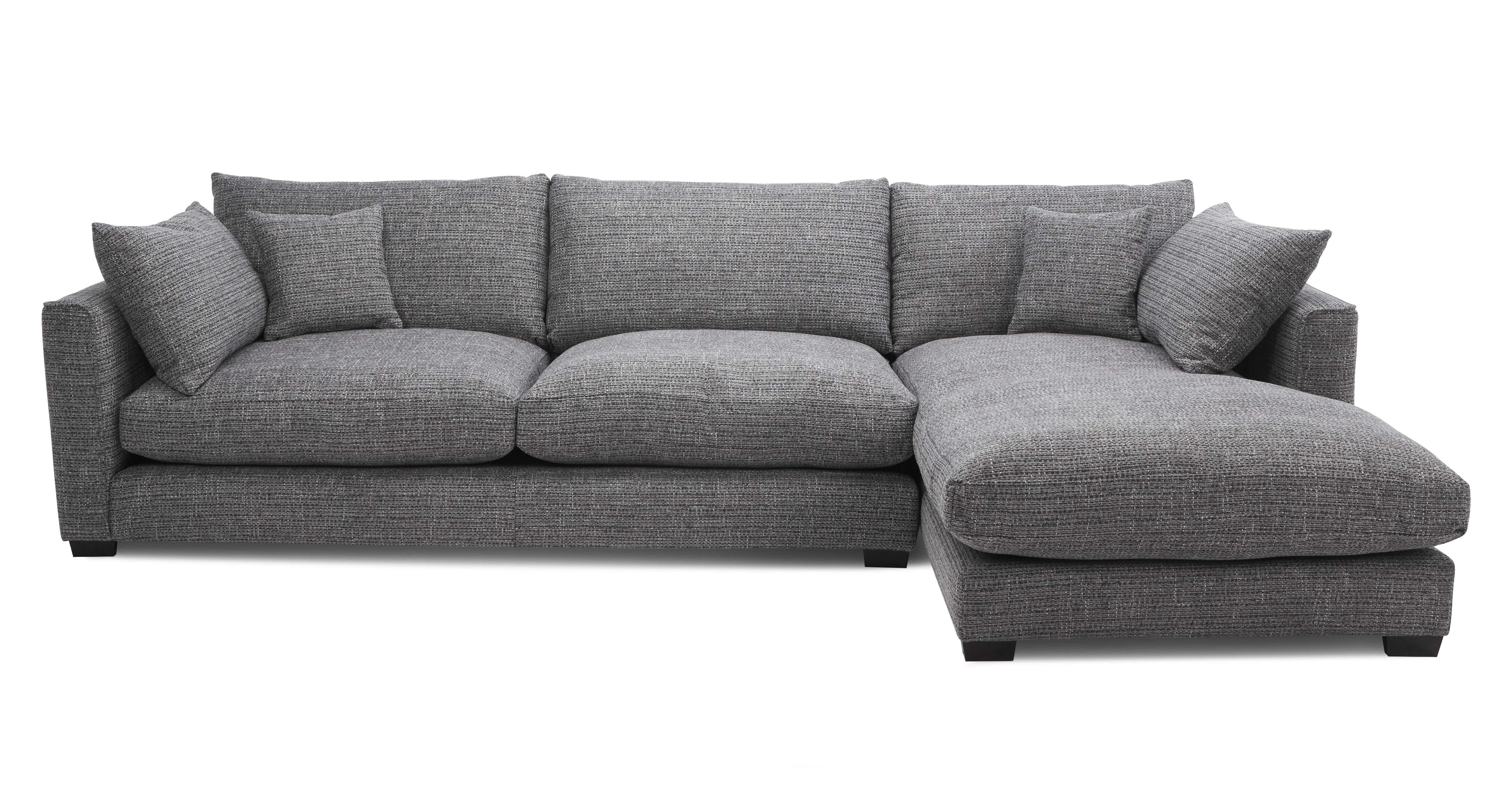 keaton weave right hand facing large chaise end sofa