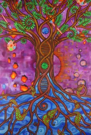 As above so below tree art canvas flip painting