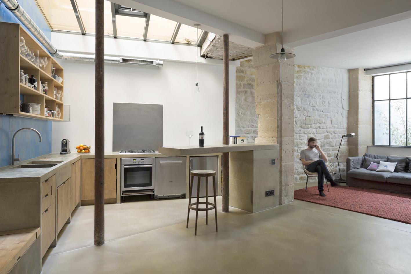 Maxime Jansens Architecte Ccile Septet Loft In Paris