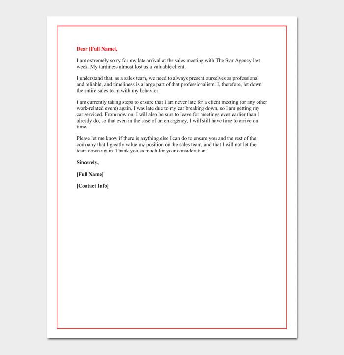 sample of warning letter for late attendance pdf