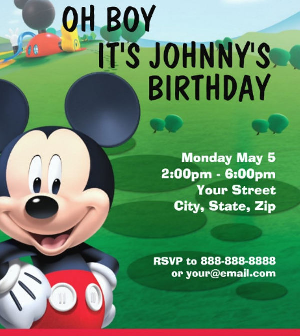 8 mickey mouse invitation templates