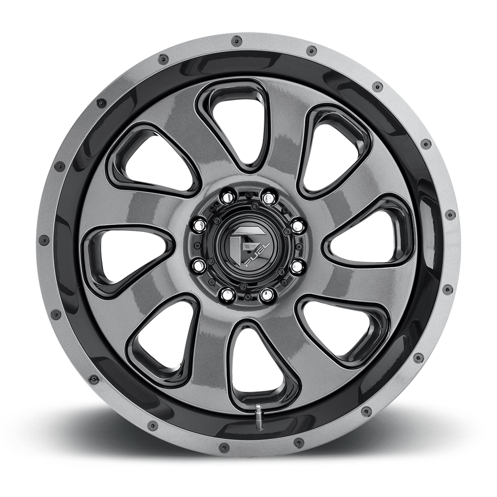 Fuel Dually Wheels Flow Dually Front D269 Wheels Down