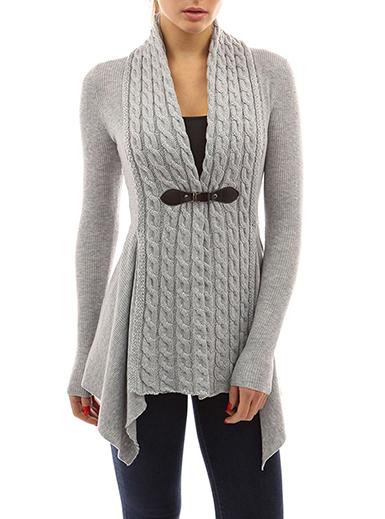 Women's Sweater - Asymmetrical Hemline