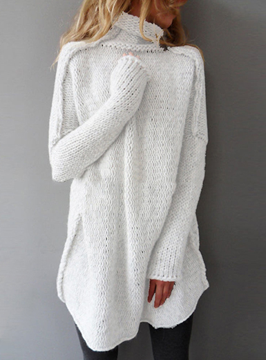 Women S Oversized Batwing Sleeved Knit Sweater Gray