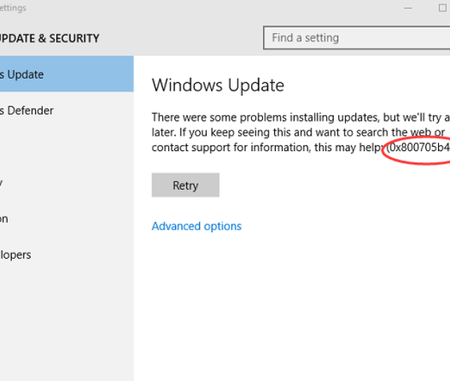 While Installing Windows Update In Windows 10 If You Get Error Code 0x800705b4 Dont Worry Many Windows 10 Users Have Reported This Windows Update Error
