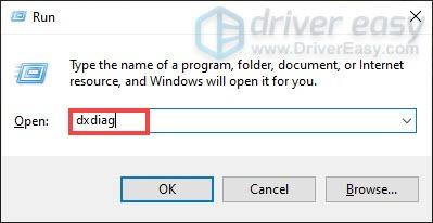 открыть инструмент диагностики DirectX