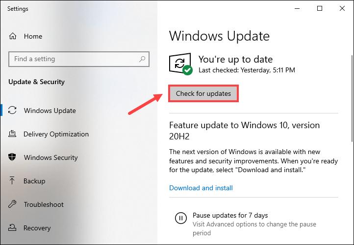 как скачать и установить обновления Windows