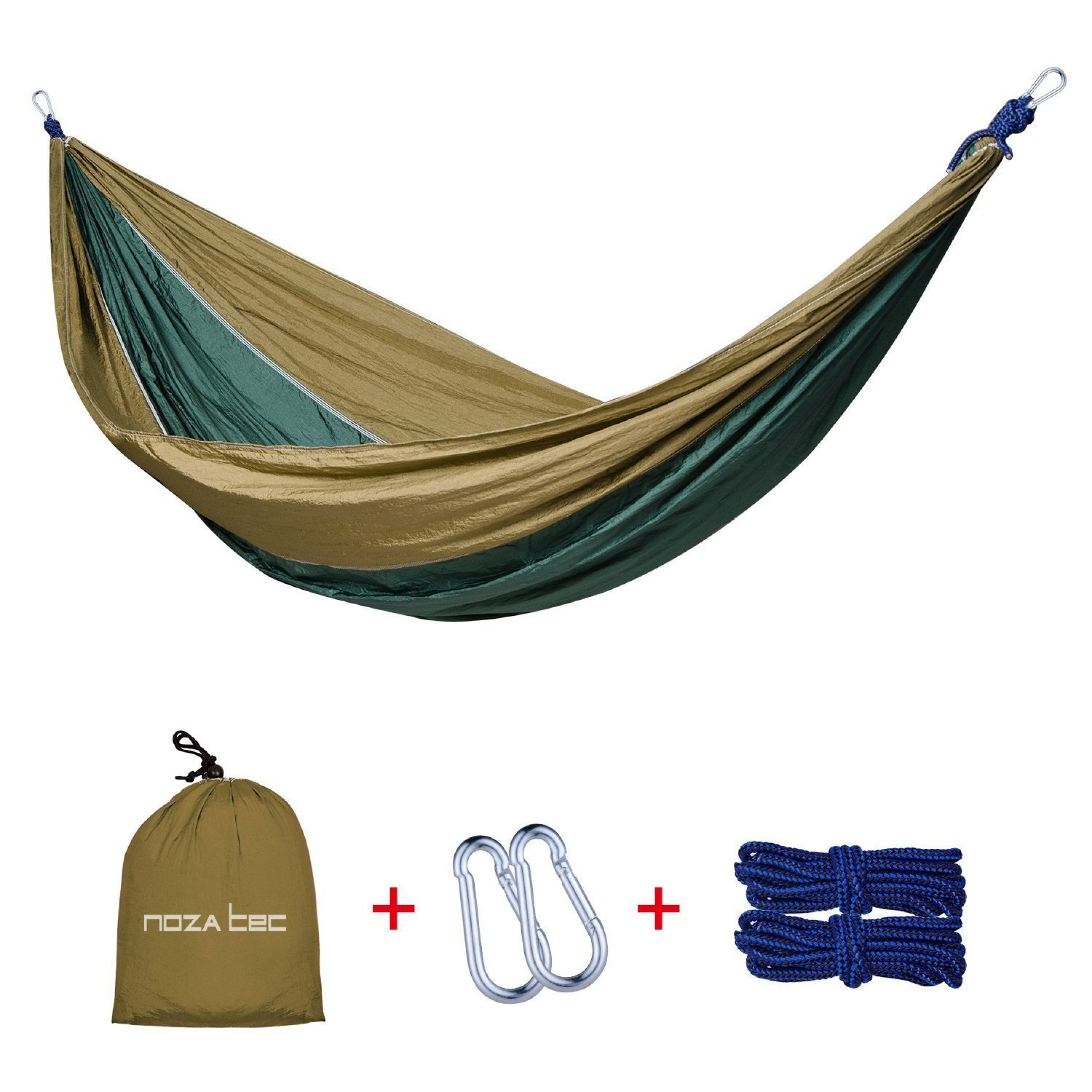 Portable Camping Travel 2 Person Hammock W Tree Straps Up